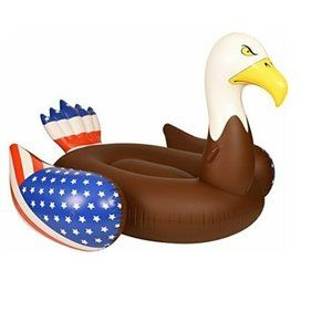 Other - American Flag Bald Eagle Pool Raft Float 6.5 Ft
